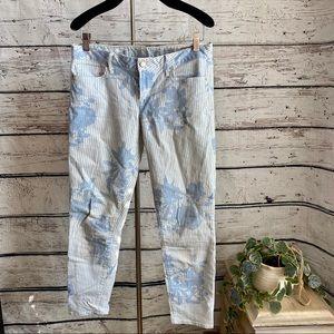 Gap 1969 Floral Stripe Always Skinny Skimmer jeans